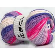 Baby Batik fehér, rózsaszín, lila árnyalatai