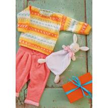 bravo baby color színátmenetes festésű fonalból kötött baba pulóver
