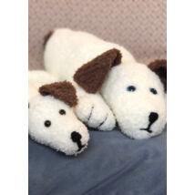 amigurumi kötött kutyus két méretben lenja soft baba rövid szempilla fonalból kötve