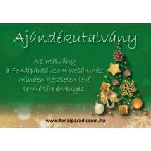 Karácsonyi ajándékutalvány  egyedi értékkel