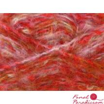 Melange Mohair piros, halványlila, barna
