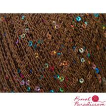 Paillette light barna színes flitterekkel