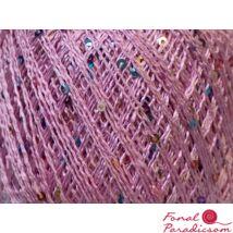 Paillette light rózsaszín, színes flitterekkel