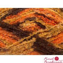 Boucle Mohair Light narancssárga, barna