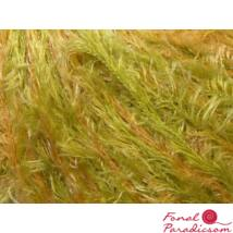 Short Eyelash Lurex zöld, krém