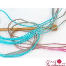 Hand Dyed Linen Rózsaszín kék