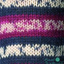 Regia color zoknifonal 100 g kék- krém-bordó mintás 07708