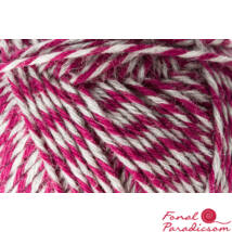 Regia 8- födig  color zoknifonal 150 g burgundi szürke 08058