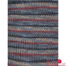 Regia color zoknifonal 100 g szürke- fehér- bordó csíkos 06029