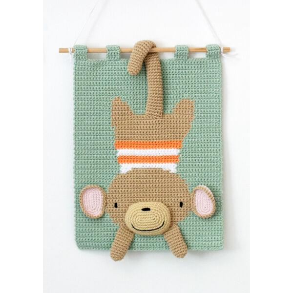 Naughty Monkey Anchor Baby Pure Cotton horgoló készlet, falikép