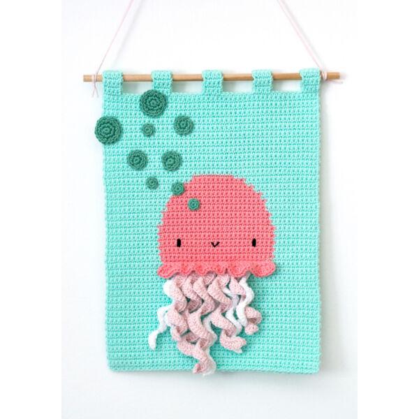 Bubbly Jellyfish Anchor Baby Pure Cotton horgoló készlet, falikép