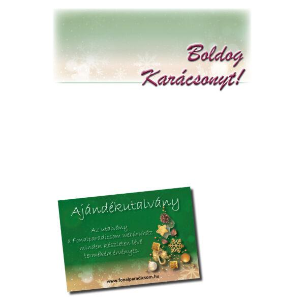Karácsonyi ajándékutalvány  egyedi értékkel, levélpapír, letölthető