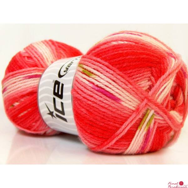 Baby Design fehér,piros, rózsaszín, zöld