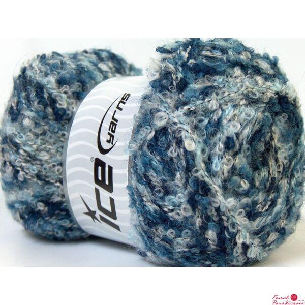Boucle Mohair fehér, kék árnyalatai