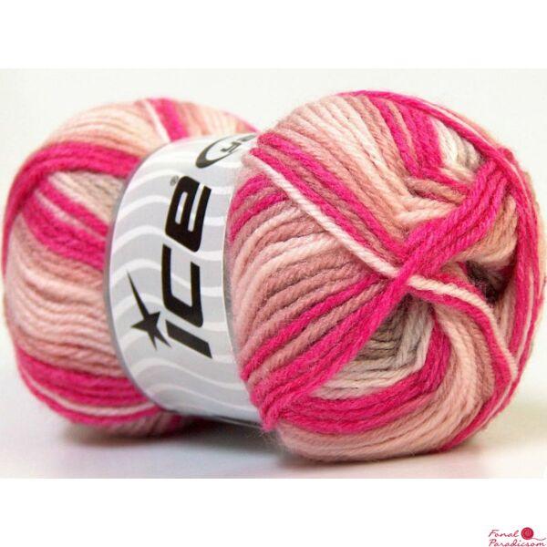 Baby Wool Print rózsaszín, fukszia árnyalatai