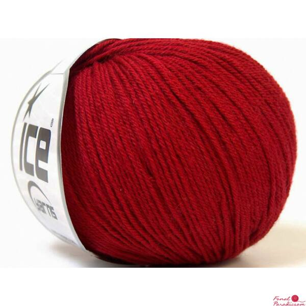 Baby Merino sötét piros