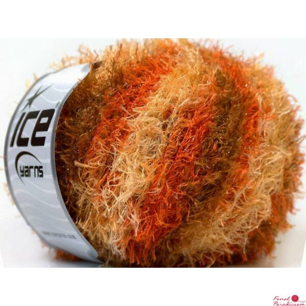 Short Eyelash Lurex narancssárga, keki, krém
