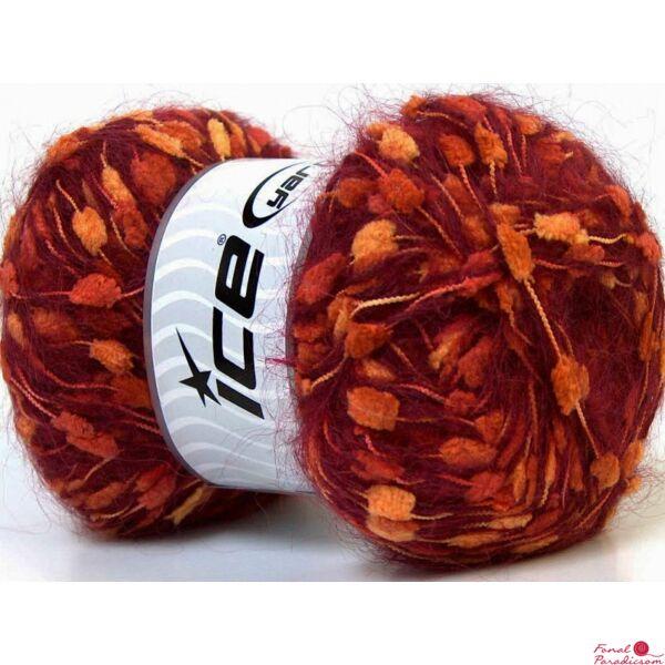 Mohair Knots bordó, narancs, sárga