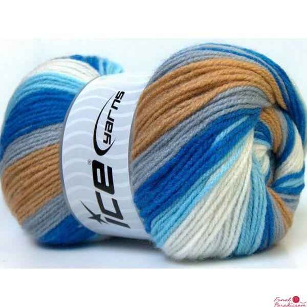 Baby Batik fehér,kék, keki