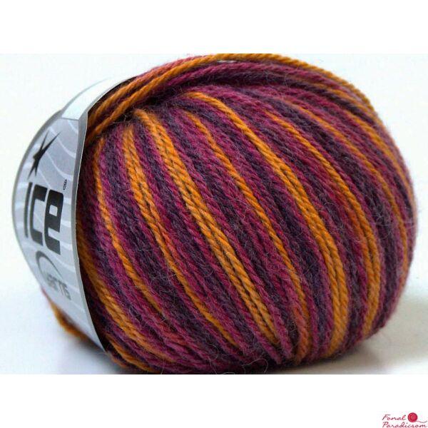 Colorway Wool lila, arany, fukszia