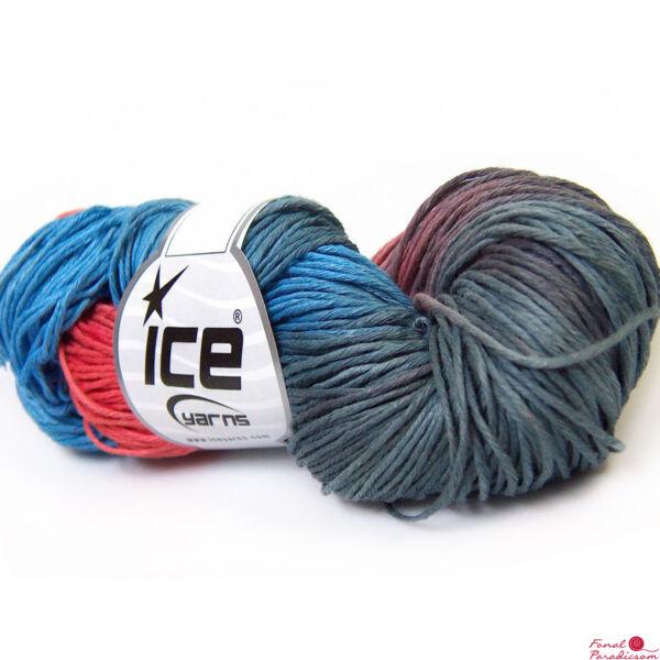 Hand Dyed Linen lazac, szürke, kék