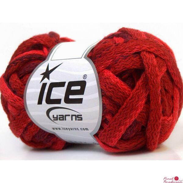 Frilly Wool piros, lila, burgundi