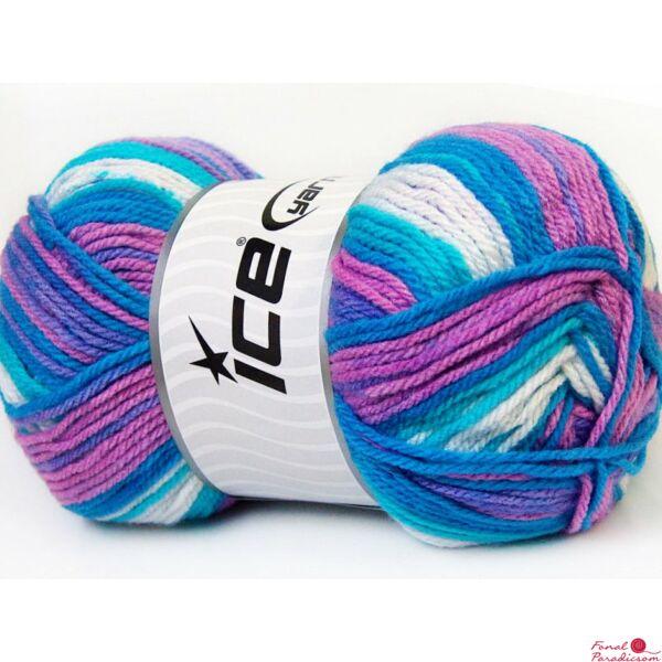 Junior Batik fehér, türkiz, lila, kék