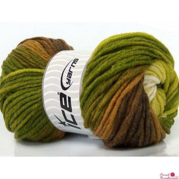 Merino Magic barna, zöld árnyalatok