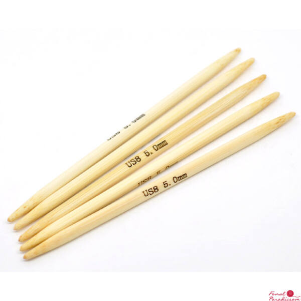 Bambusz zokni, harisnyakötőtűk  2,5 - 10 mm, hossza 13 cm