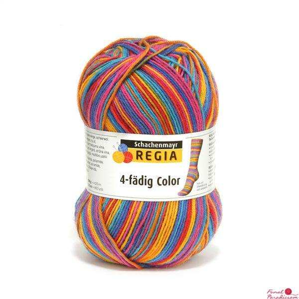 Regia color zoknifonal 100 g egzotik színösszeállításban 03726