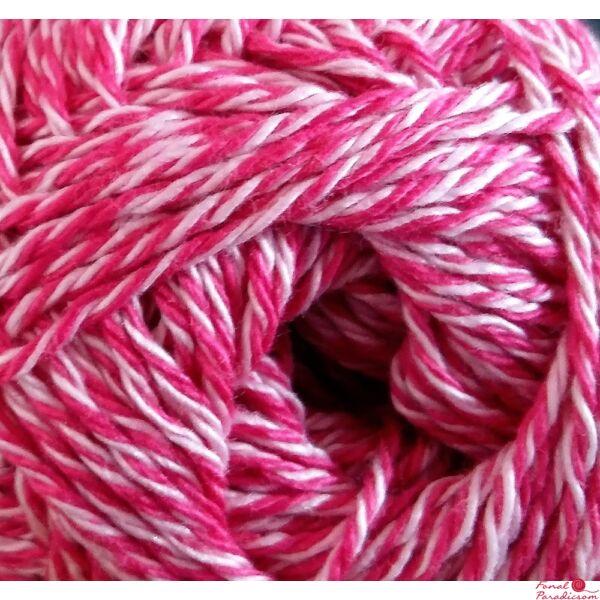 Catania Color Mouliné pink-fehér 0114