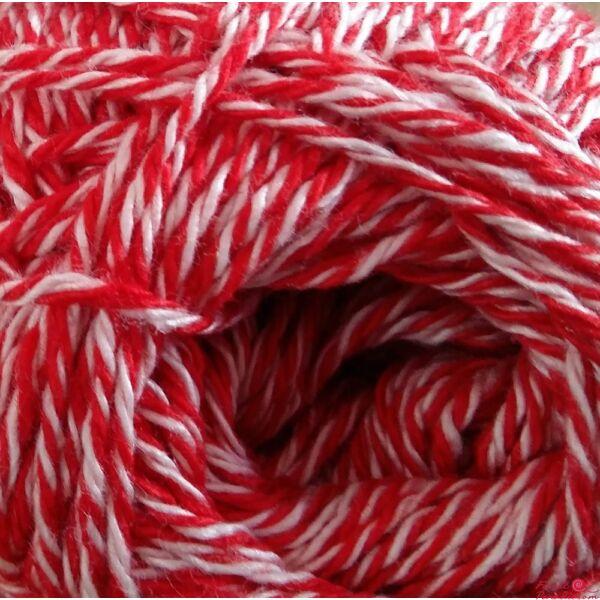 Catania Color Mouliné piros-fehér 0115
