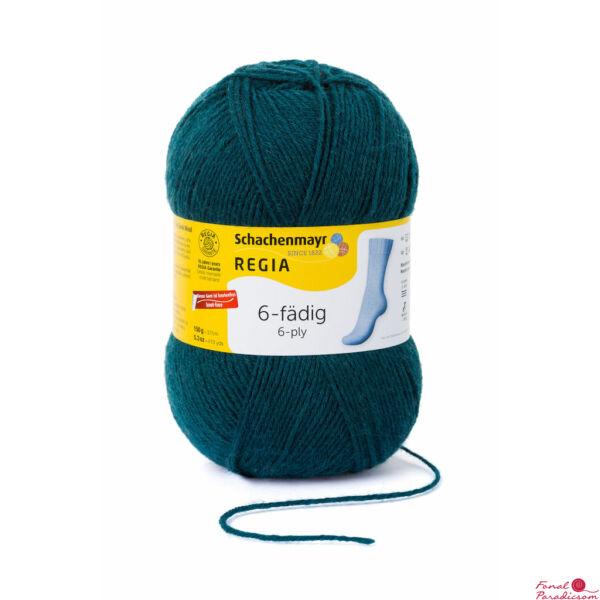 Regia 6 szálas zoknifonal 150 g petróleum zöld 02749