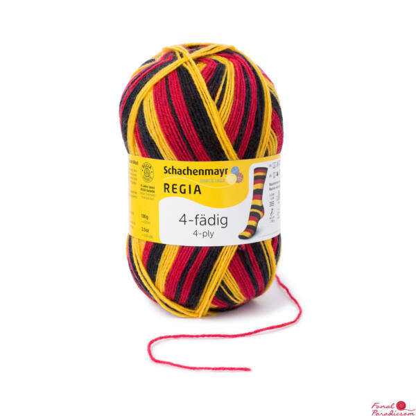 Regia Stadion zoknifonal 100 g fekete-sárga-piros 05397