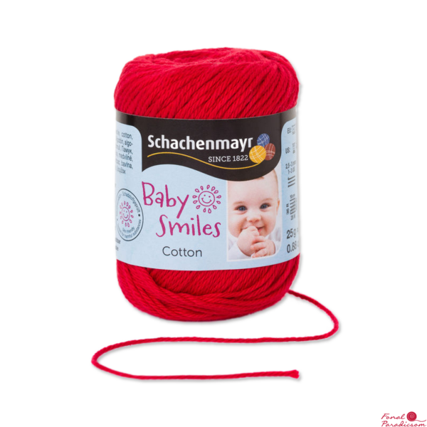 Cotton Baby Smiles piros 01030