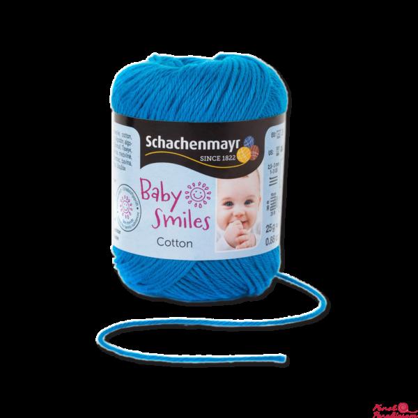 Cotton Baby Smiles aqua kék 01069